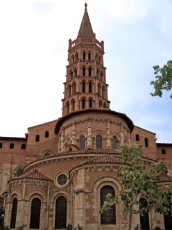 Toulouse-type apse and tower of Saint-Sernin Basilica, Toulouse, France