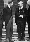 King George VI (left) and William Lyon Mackenzie King (right), at the Imperial Conference, Buckingham Palace, London, 1937