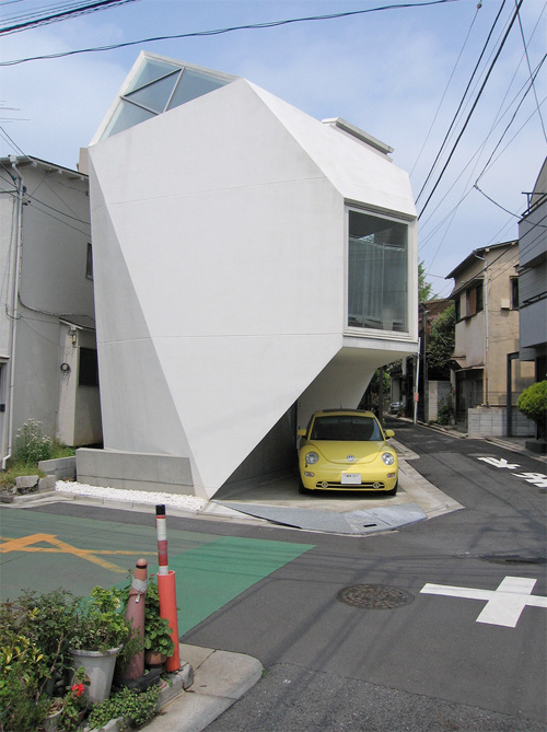 Space saving Japanese  house  designed by Yashuhiro Yamashita and measuring 44 sq metres