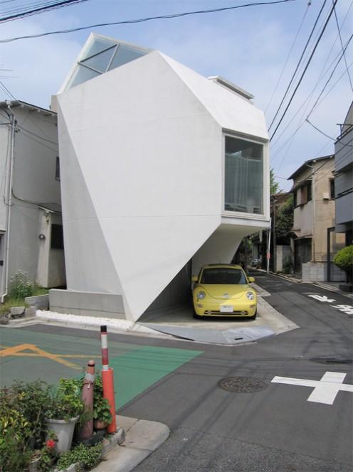 Space saving Japanese  house  designed by Yashuhiro Yamashita and measuring 44 sq metres