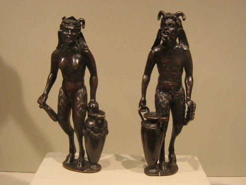 Satyr and Satyress with Urns By krigud
