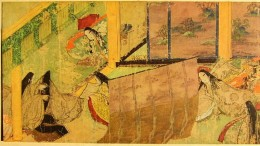 Scrap of Genji Monogatari scroll.