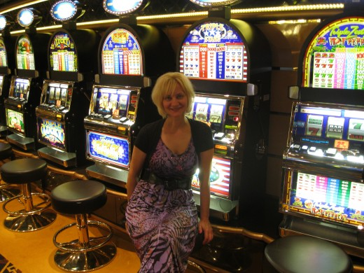 Gaming machines in Casino aboard the MSC  cruise ship Splendida