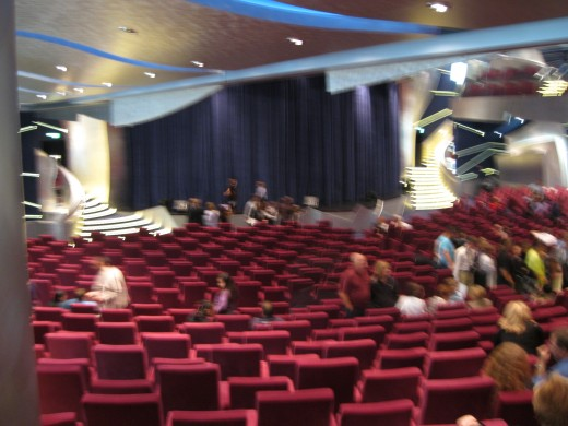 Theater on board the cruise ship Splendida