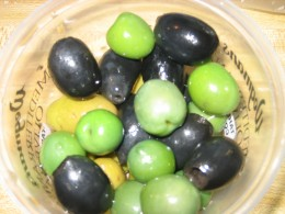 Mixed friesh olives from the local market.