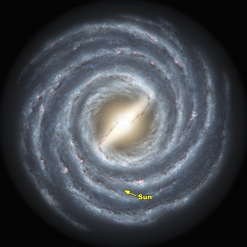 MILKY WAY GALAXY Our sun is in the second arm South the center.