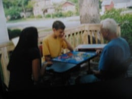 Aggravation is good, family fun! J with Liz and Papa 2007