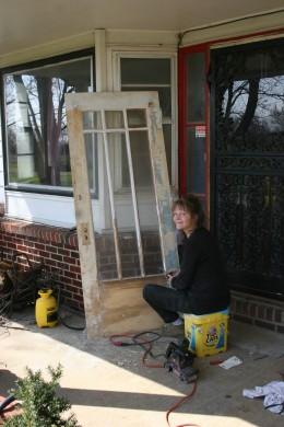 working on doors