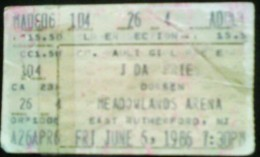 The author's ticket stub from Priest's TURBO tour in 1986. Yes, Virginia,  it was actually possible to see two awesome bands for less than 20 bucks back then.