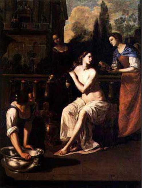 Bathsheba by Artemisia Gentileschi Early 1640's Museum of Art. Columbia, Ohio