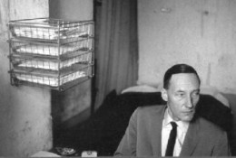 William Burroughs, one of the most experimental authors in terms of perspective and sentence structure.