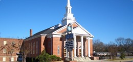 Alberta Baptist Church before the tornado