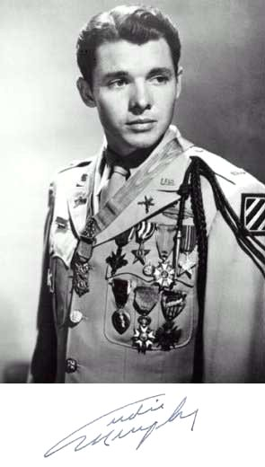 Audie Murphy, the most decorated hero of World War II, cited many times and by many governments for his bravery. Despite being wounded in battle, he was never a victim.