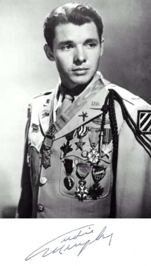 Arguably the greatest hero of WWII, Audie Murphy, selfless, generous and caring.
