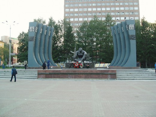 Black tulip: Monument for the 1979-89 Soviet war in Afghanistan (and other Russian wars) in the Russian city Yekaterinburg
