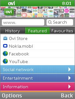 Ovi Browser - Nokia's mobile web browser