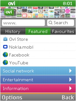 Ovi Browser - Nokia's mobile web browser