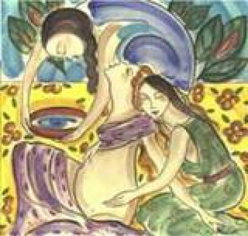 Throughout history woman have supported each other during childbirth