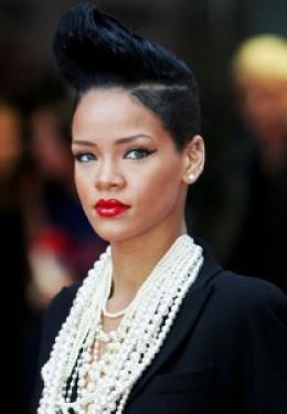 Rhianna swathed in pearls