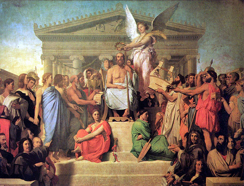 """Apotheosis of Homer"" by Ingres"