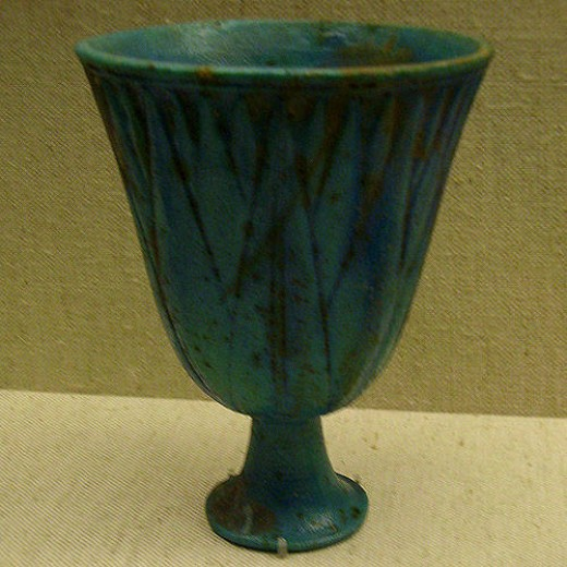 Blue Lotus Chalice from the 18th Dynasty  Thought to have been made between 1504 and 1349 B.C.E.