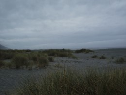 Dunes at the edge of the world.