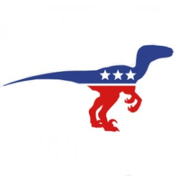 velociraptor political party rnc dnc dinosaur stars raptor graphic
