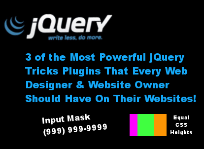 These jQuery tricks make every webmaster's life easier and is used on almost all websites.