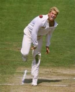 Shane Warne letting it rip