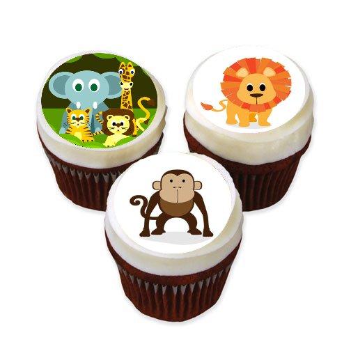 Zoo Animals Edible Cake Stickers