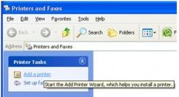 Select add printer option