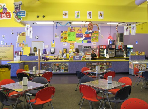 Monkey Joe's Snack Bar & Seating Area