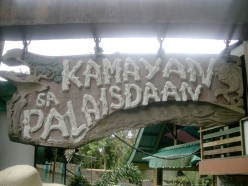 Dining in, Kamayan sa Palaisdaan, still at Lucban, Quezon