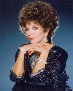 !980's big hair icon, Joan Collins