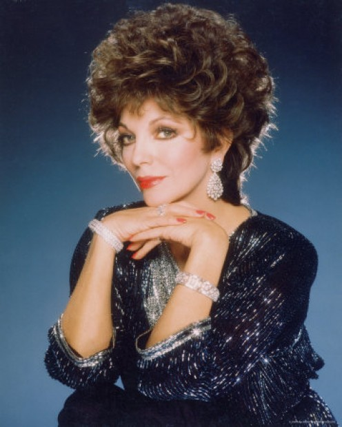 !980's big hair icon, Joan Collins
