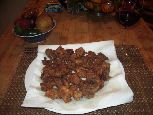 Double-click the photo to see the chicken livers in more detail