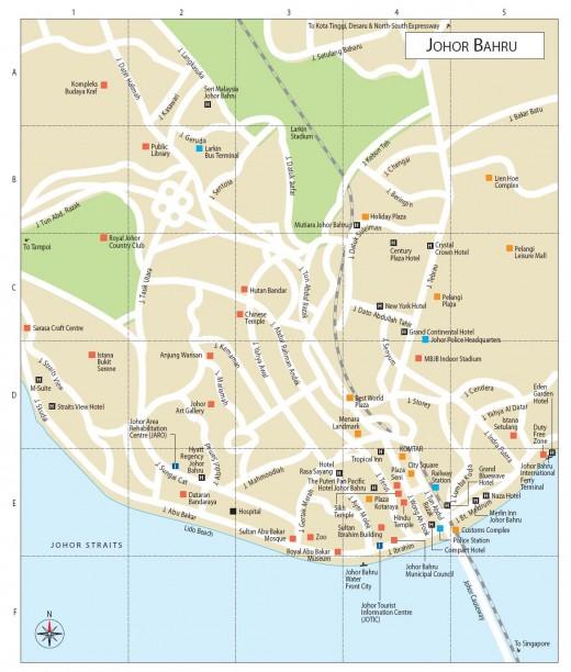 Map of Johor Bahru City