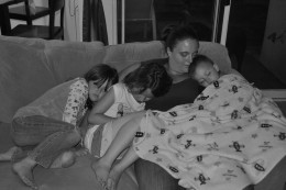 There is nothing better than cuddling with your children, even if it means having to put the laptop away.