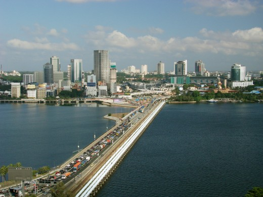 Johor Bahru Skyline and the Causeway