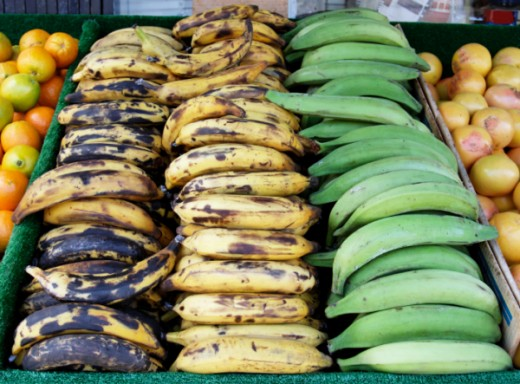 All 3 stages of plantains