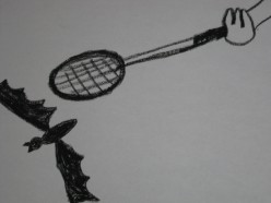 Midnight Bat-Minton Anyone?