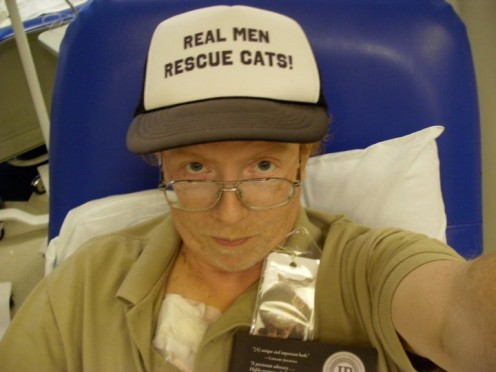 Taking chemo and spreading the message: Real Men Rescue Cats!