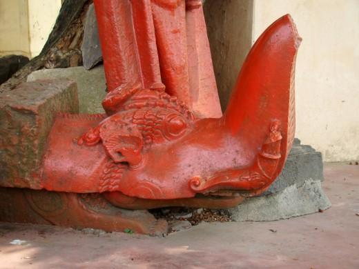 MAKARA, the mythical Vahana of Goddess Ganga