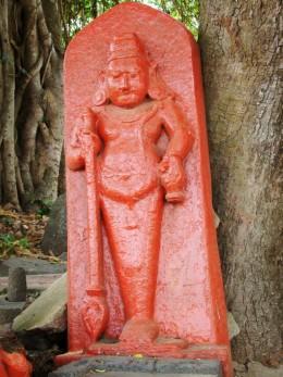 The stone idol of EK Pada Bhairav