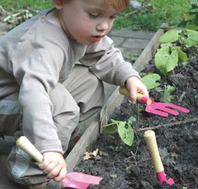 He will love creating a mess with his new gardening tools