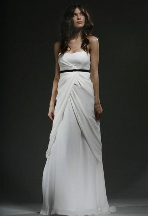 Фото элегантных свадебных платьев в греческом стиле.