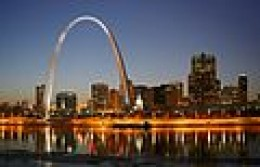 Photo of downtown St. Louis with the Gateway Arch.