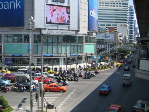Sukhumvit Road and Asoke Road Junction