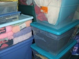 Replace Cardboard Boxes with Plastic Storage Containers.