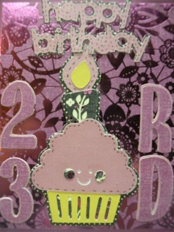Easy Cricut Happy Birthday Card